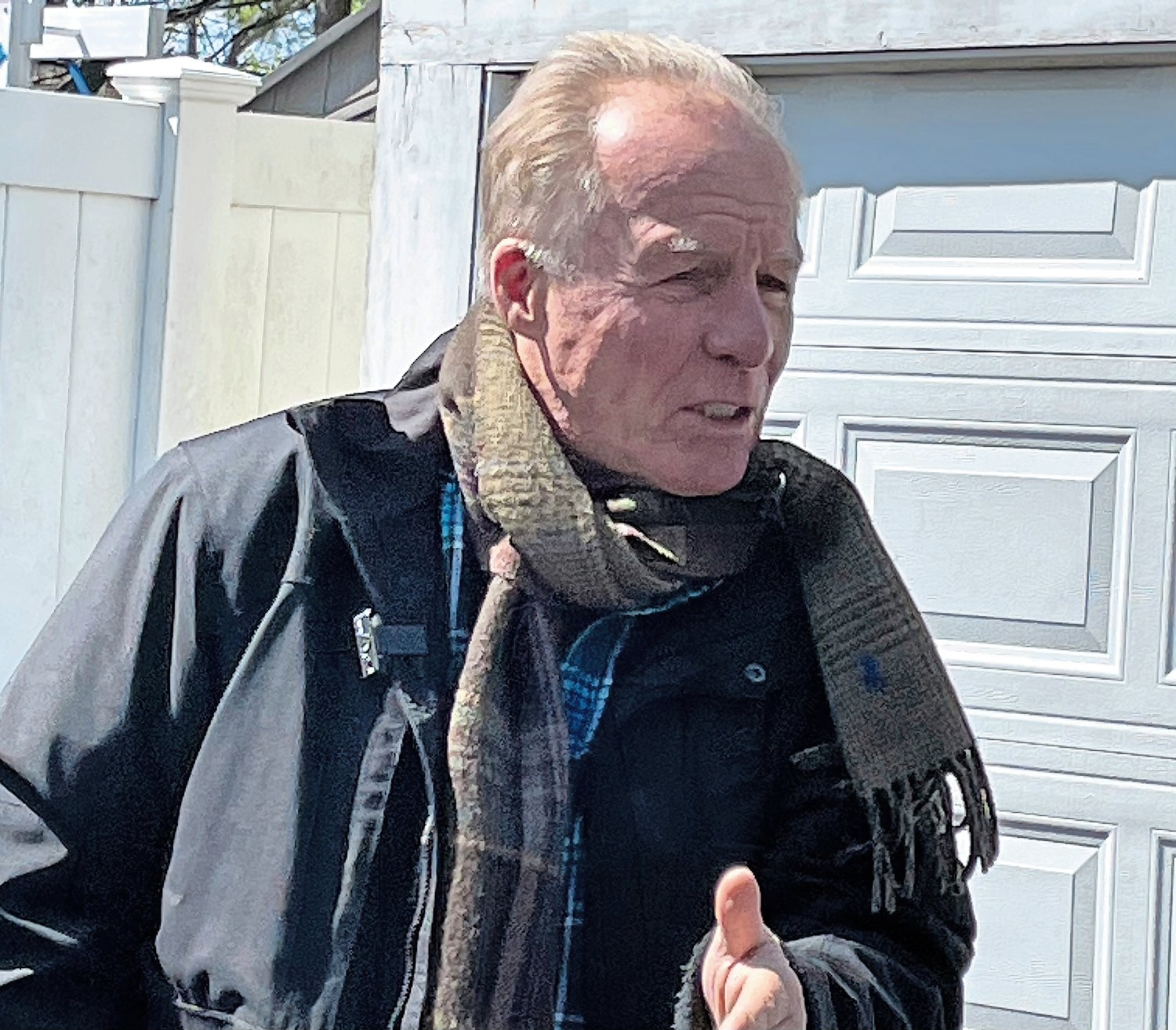 "Jackie ""The Joke Man"" Martling performed at the Veterans Farmers Market outside the Cedarhurst home of Syd Mandelbaum."