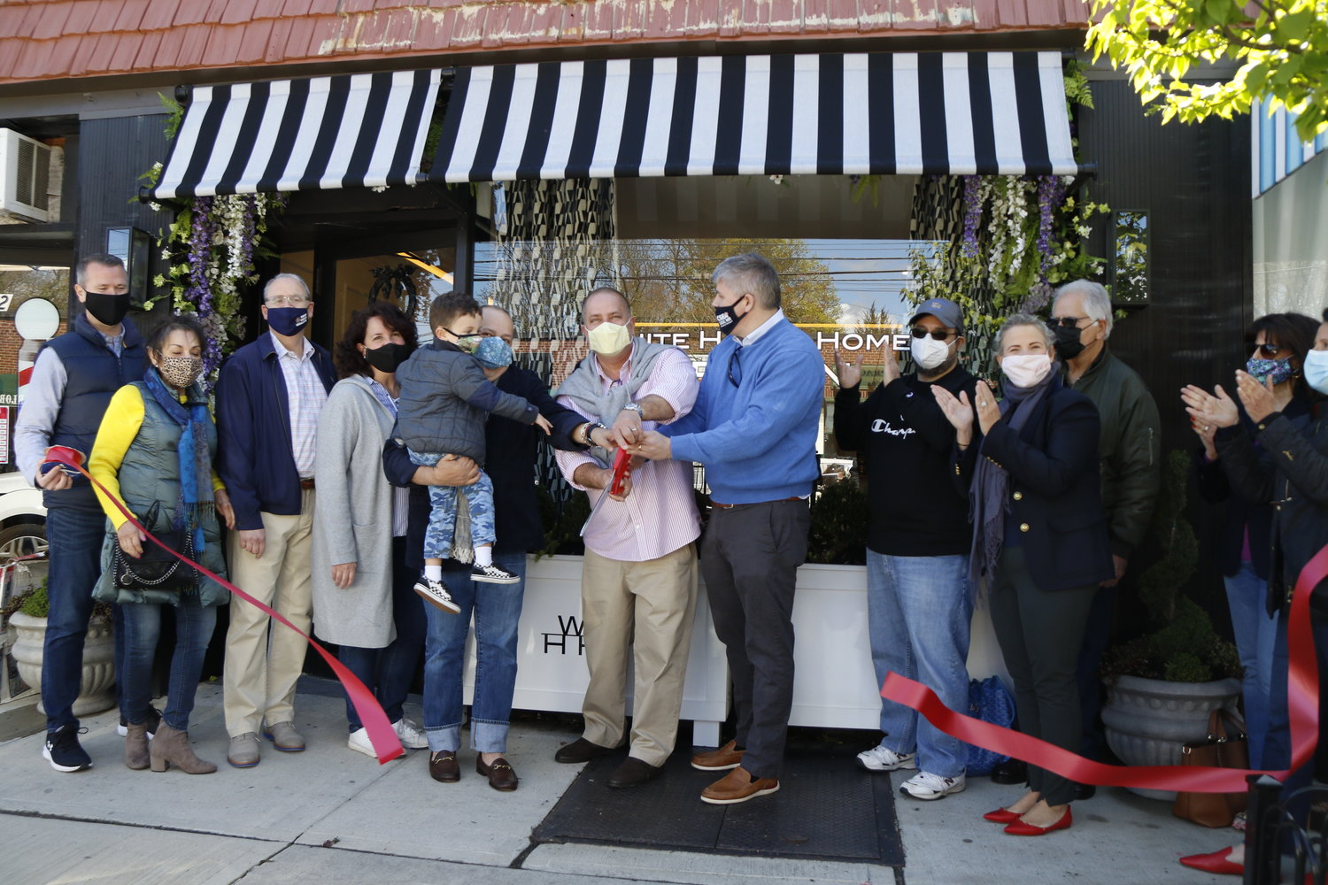The White House Home in Malverne held a ribbon-cutting ceremony for its second shop, at 288 Hempstead Ave., on April 17.