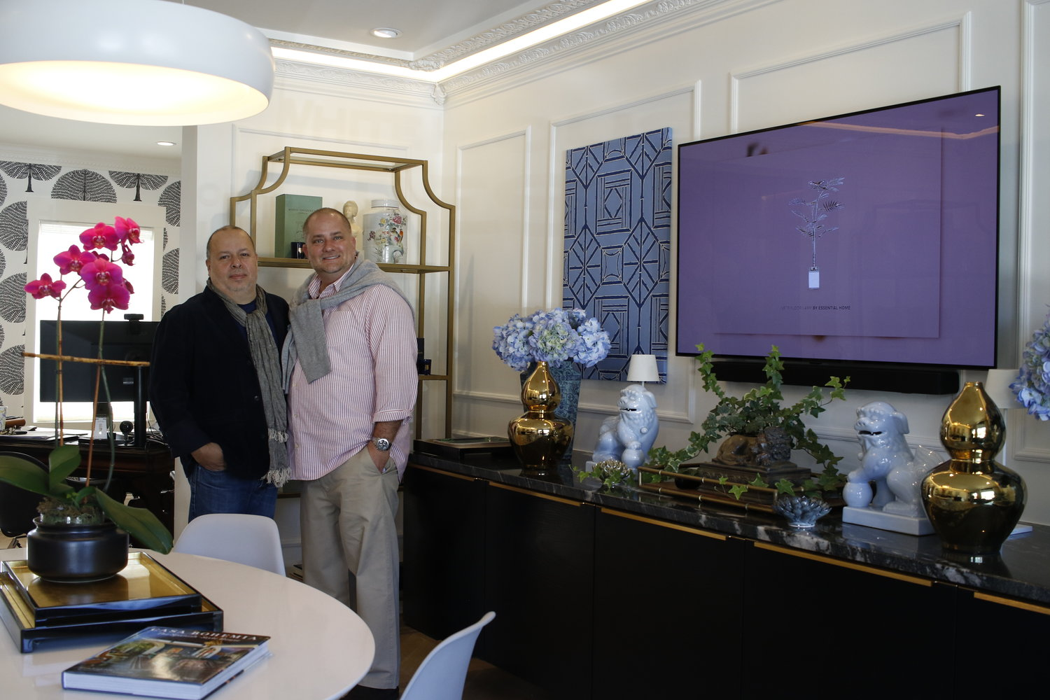 White House Home co-owners William Mera, left, and Joseph DeVito showcased their new shop.