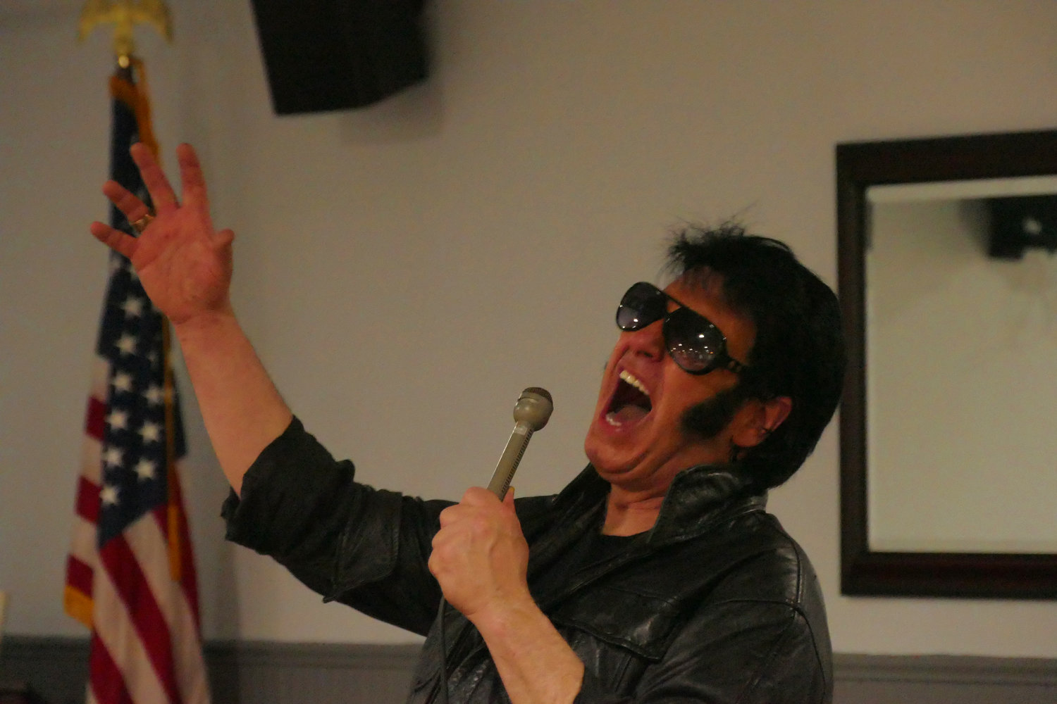 Elvis tribute artist Steve Mitchell rocked the house at Oceanside Veterans of Foreign Wars Post No. 5199 on Sunday with a special concert.