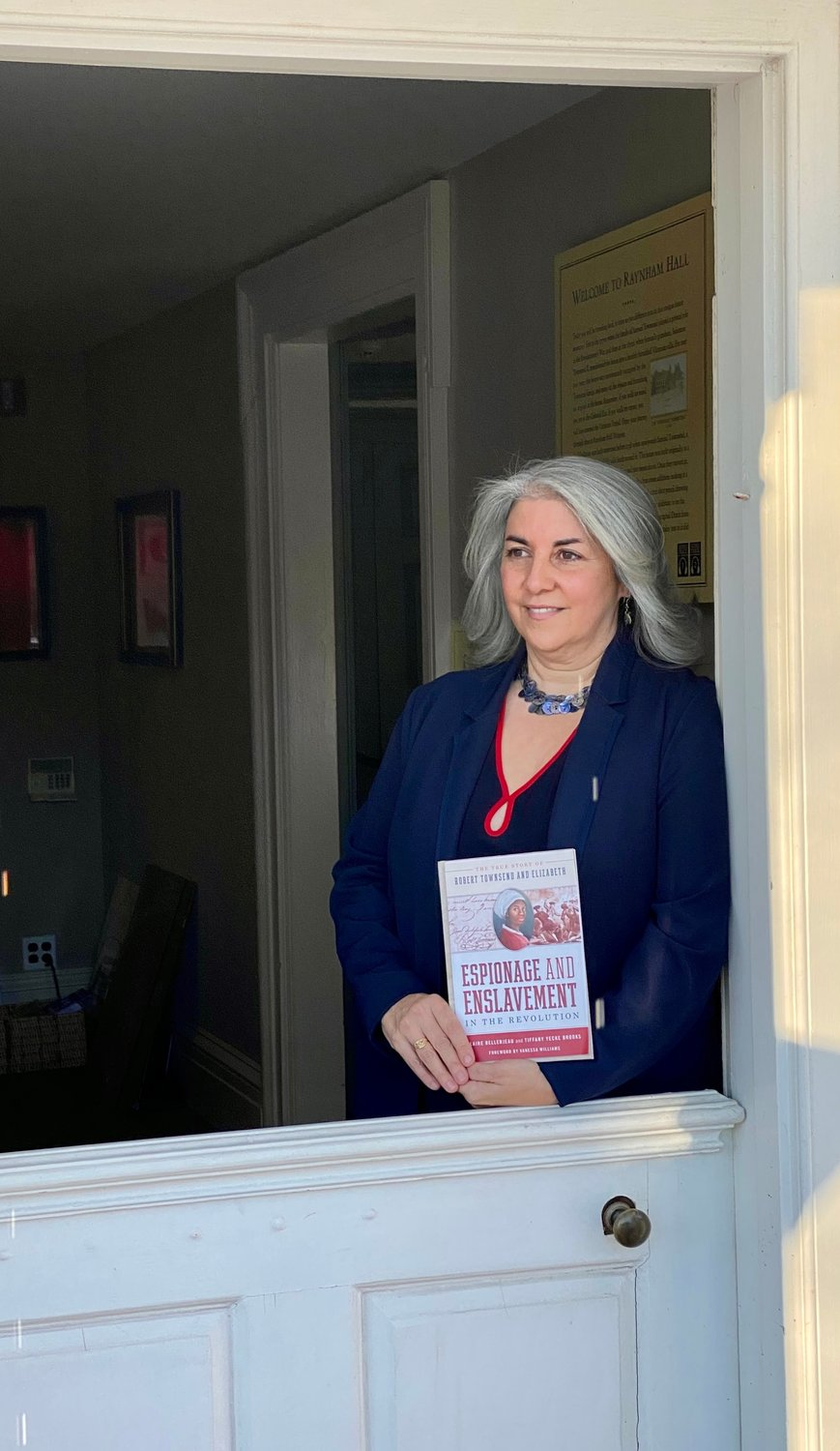 Claire Bellerjeau, historian and education director at Raynham Hall Museum, has co-authored a book that explores the life and times of Liss, an African-American slave.