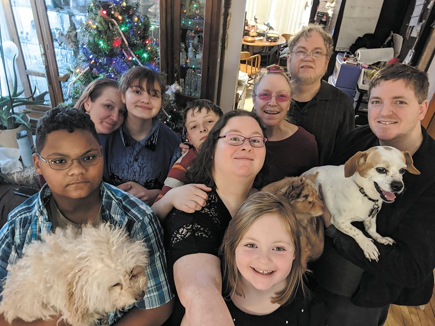 "A Girard Christmas with parents Gerald ""Teddy"" and Terra, children Amanda and Tony (with his wife Lisa), and granchildren Loralei, 14, Greg, 16, Liam, 11, and Sonja, 8 (Photo submitted)"