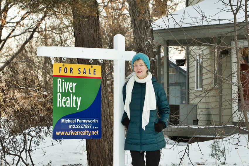 Real estate broker and business owner Pat Rosaves pointed out that homes are selling rapidly, even fixer-uppers. Houses are selling within four days on the market wiith multiple offers. (Photo by Margie O'Loughlin)