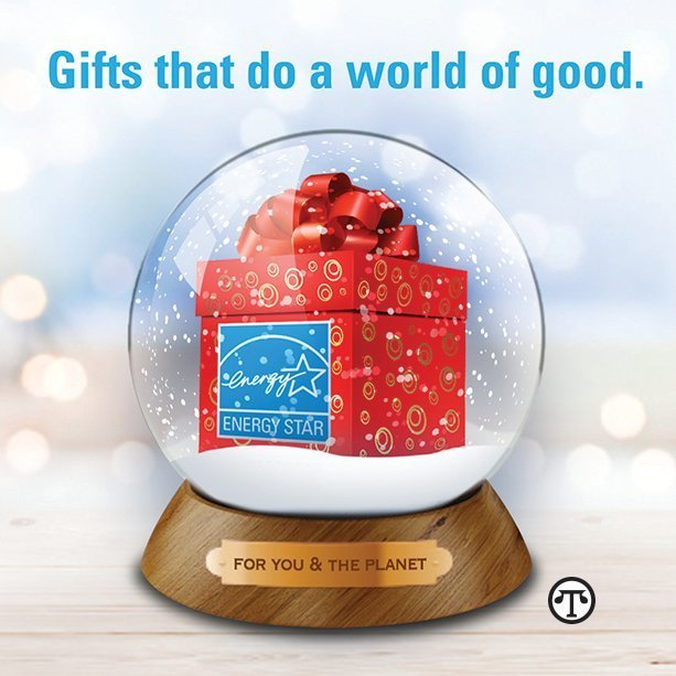 You can make next winter's scene a bit brighter for friends and family when you give presents that feature the ENERGY STAR label.