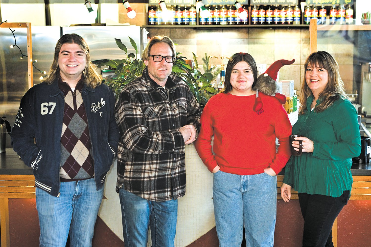 The Bernick family (left to right: Auguste, David, Anavie and Mara) has operated the Riverview Cafe and Wine Bar for more than two decades. (Photo by Margie O'Loughlin)