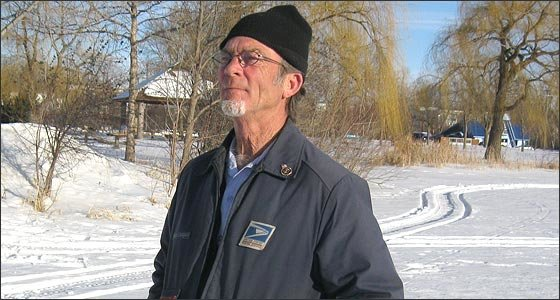 When he retires on March 30 after 31 years as a letter carrier, Gary Fitch, 61, is not going to sit back, put his legs up, and watch television. Instead, he is going to keep on walking. In April 2014, Fitch is planning a walk from International Falls to St. Paul to raise funds to end hunger in Minnesota. (Photo by Jan Willms)