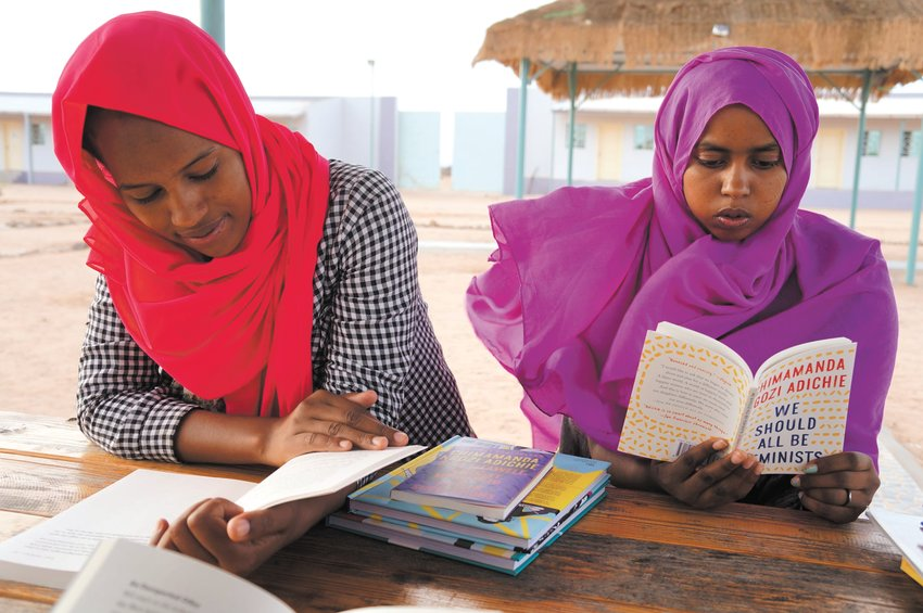 """""""We have a girls empowerment program with books about girls sent to girls,"""" observed Books for Africa Executive Director Patrick Plonski. (Photo submitted)"""