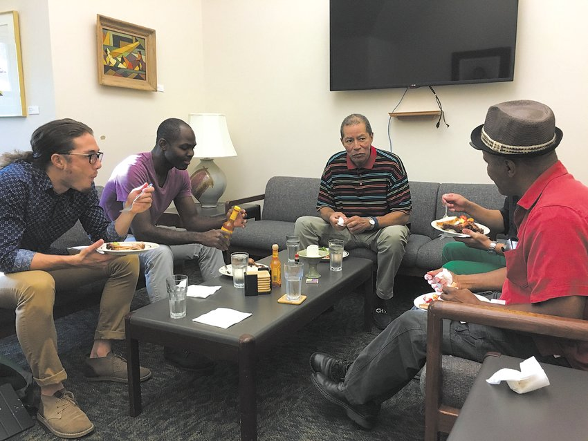 People find common ground when they come together over a meal and conversation, according to Russel Balenger, who leads The Circle of Peace gatherings in order to promote racial healing and stop violence. (Photo submitted)