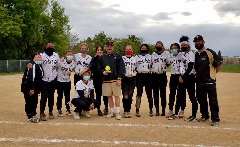 The Como softball team's victory on May 14 was the 400th win of John Fischbach's coaching career.