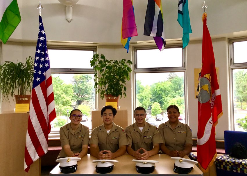 Sophia Moore, Alex Le, Jesiah Mason, and Kimberly Sanchez-Mendez (left to righ) qualified for the JROTC Leadership & Academic Bowl Championship in Washington D.C.