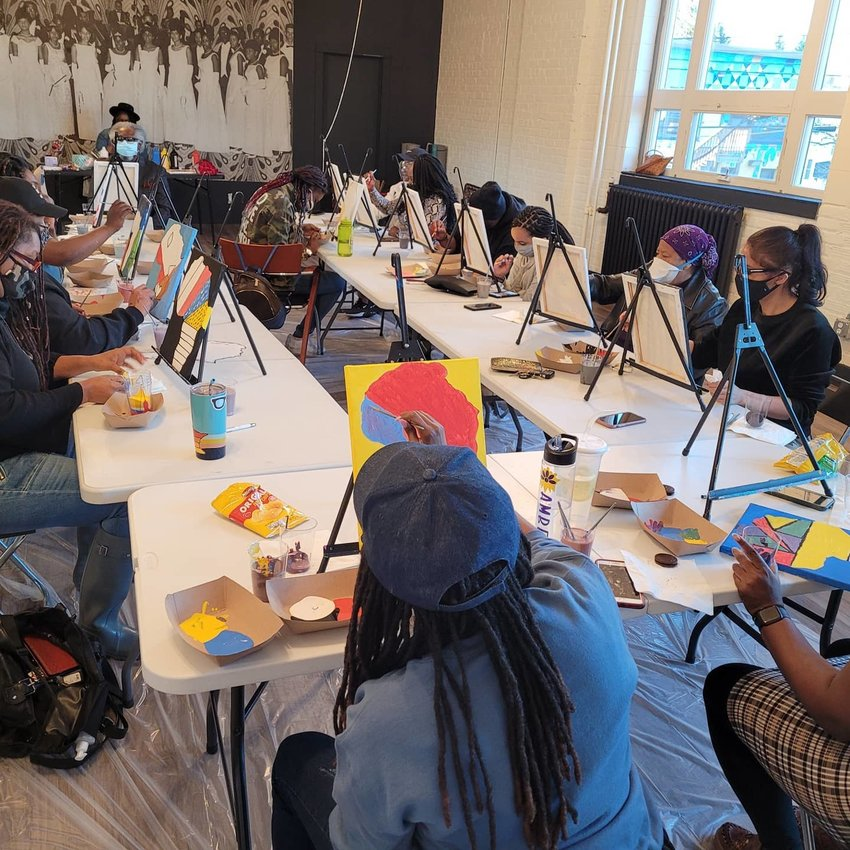 Participants at artistic events at Afya Sanaa engage in self-expression and wellness activities to heal through art, knowledge and love. (Photo submitted)