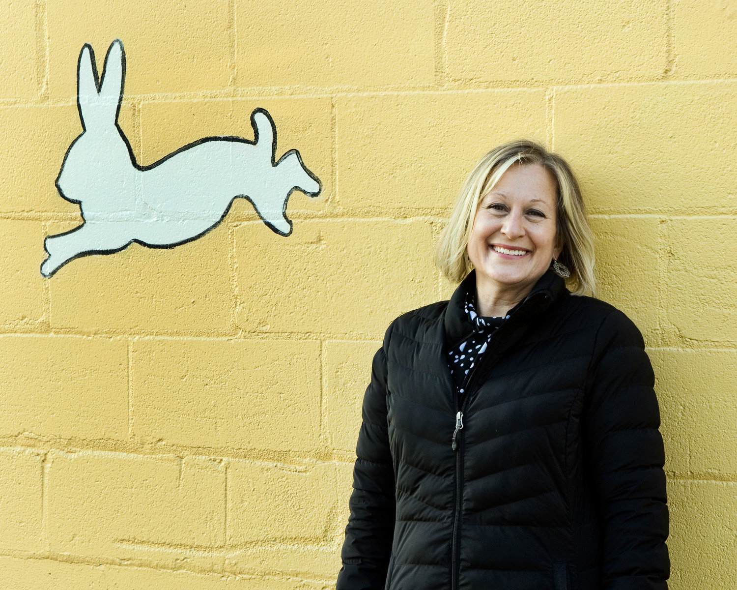 The Creative Enterprise Zone's new executive director Angela Casselton. The 18 murals that now grace the mostly industrial spaces of the CEZ are a great way to experience art, especially during the pandemic when museums are closed. View the map of where they are located on the CEZ website at www.creativeenterprisezone.org. (Photos by Margie O'Loughlin)