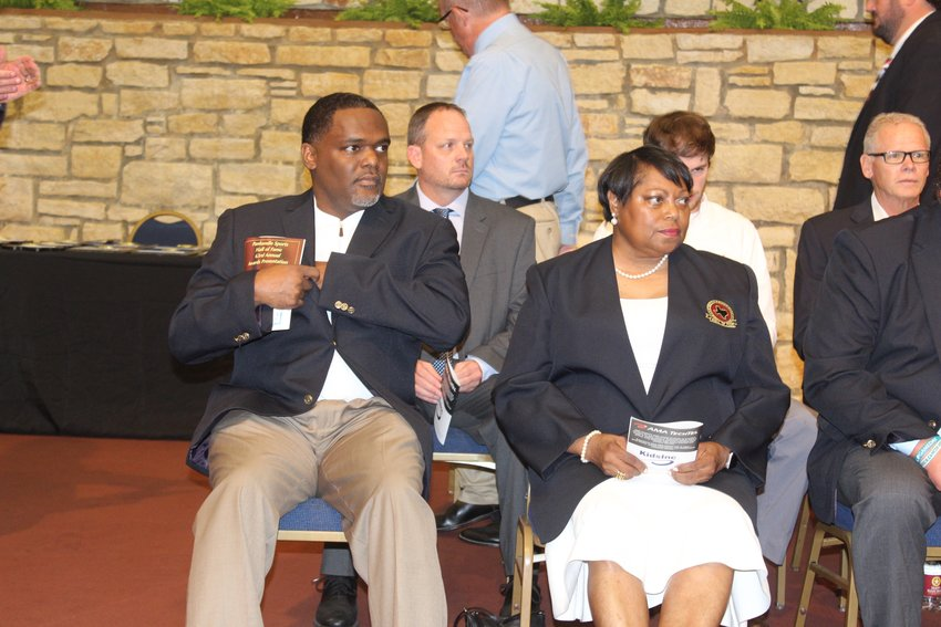 Rayford Young and Sharon Moultrie-Bruner were inducted into the Panhandle Sports Hall of Fame on Sunday afternoon.