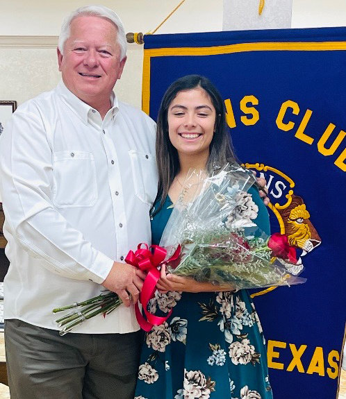 Dr Jay Johnson and Pampa Lions Sweetheart for 2021, Marianna Nava