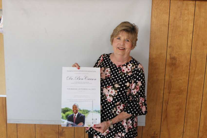 Pictured is Jana Vinson with the Pampa Edcuation Foundation. The Pampa Education Foundation's event with Dr. Ben Carson is set for Oct. 14.