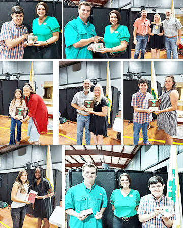 Top left, Tony Soria and Mandy Richburg. Top middle, Brycen Epperson with Richburg. Top right, Chandler Bowers, Kellie Davis and Ryan Davis. Middle left, Kimberly Becco and Jacee Sellers. Middle right, Tony Soria and Lora Richardson. Above left, Emily Robertson and Rebekka Ruzvidzo. Above right, Epperson, Richburg and Soria.