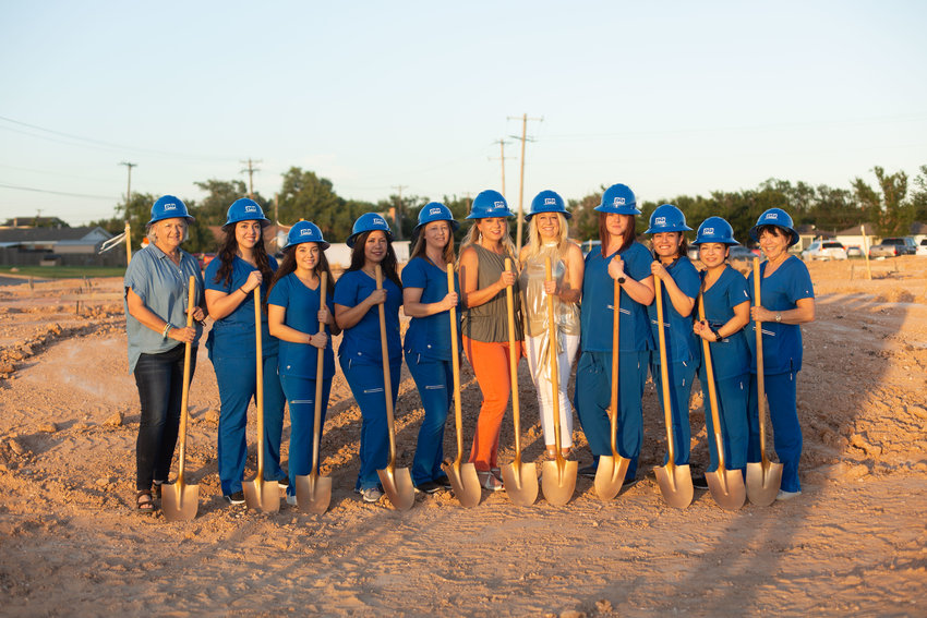 The crew from Elite Eye Care at the ground-breaking of their new building last month. From left, Doris Eubank, Gaby Perez, Gilly Gracia, Isabel Castaneda, Amy Wildcat, Lindsay Hudson, OD, Misty LeBlanc, OD, Megan Soria, IsaBella Chavez, Karina Paco, Mary West, Not Pictured: Alina Carrizales.