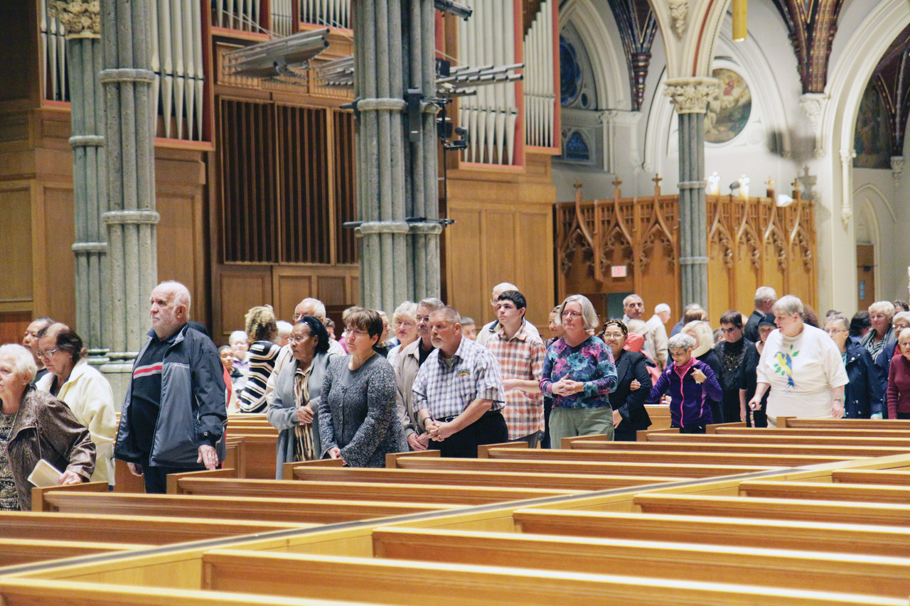 More than 100 people with disabilities, family members, caretakers and catechists, participated in a pilgrimage and Mass at the Cathedral of Saints Peter and Paul.