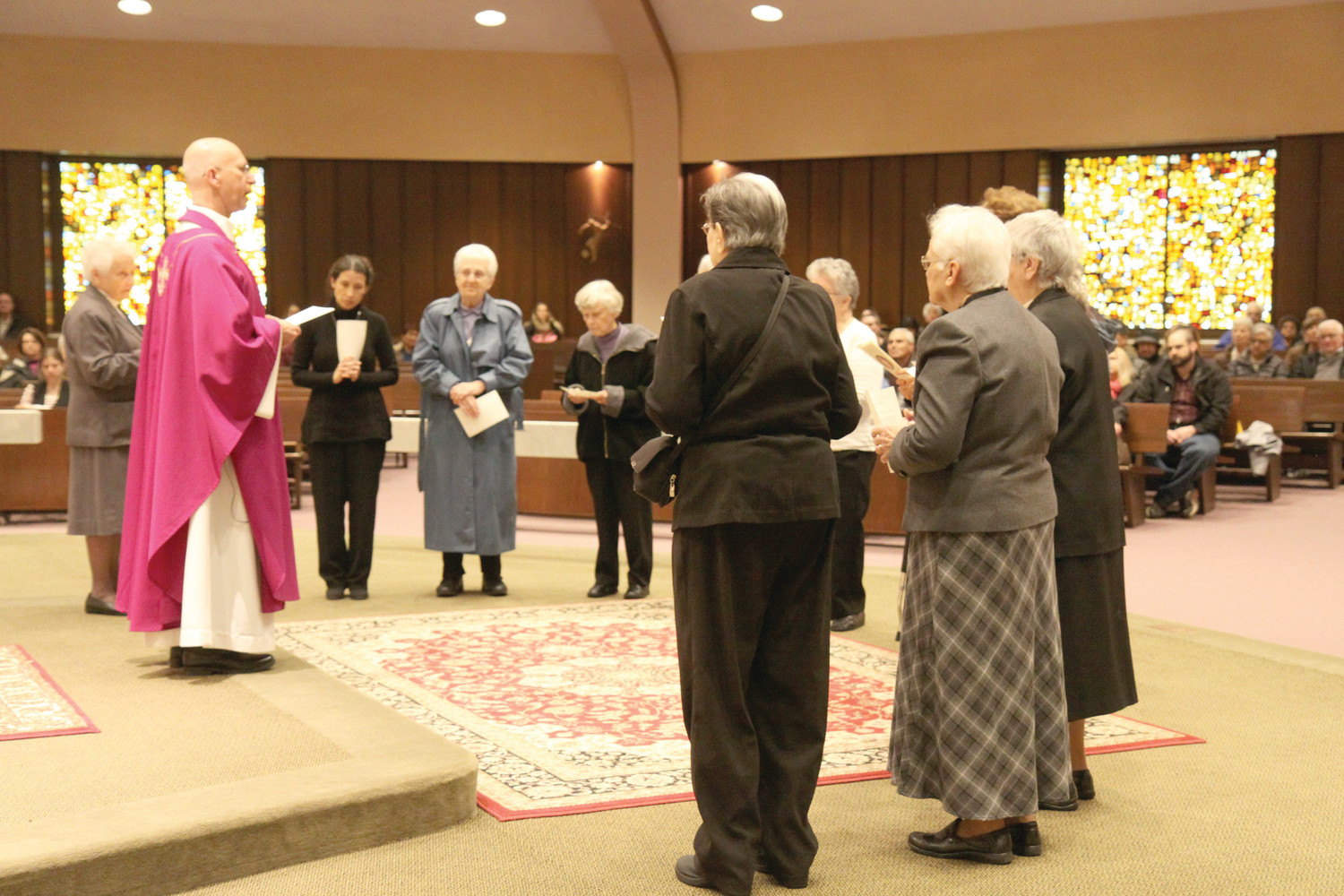 Sisters of the Religious of Jesus and Mary renewed their vows at St. Timothy Church, Warwick, on Sunday, Feb. 25 during a Mass celebrating the 200th anniversary of their order. St. Claudine Thévenet founded the congregation in 1818 in Lyon, France.