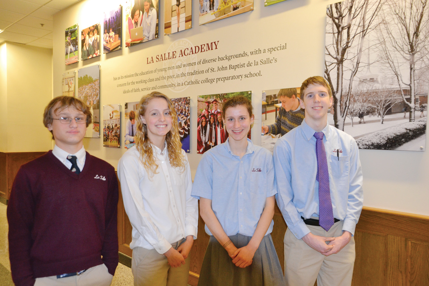 Pictured from left to right are James Linklater Truslow VI, Madalyn J. Redding, Grace T. Connolly, and Timothy J. Nigro.
