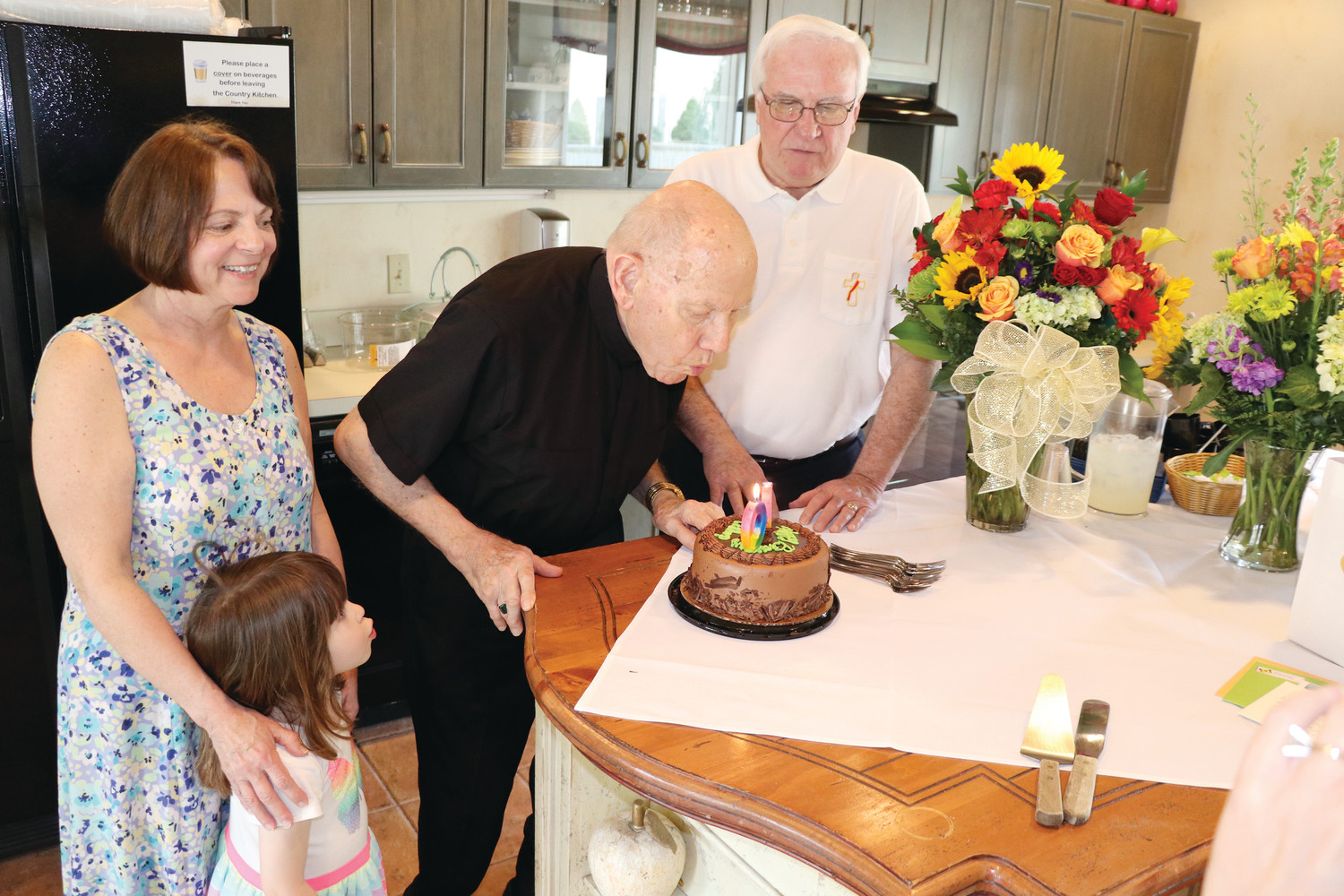 Bishop Emeritus Louis E Gelineau Celebrates 90th Birthday With