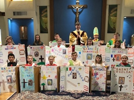 Father John V. Doyle School: Judy Burns' fourth grade class at Father John V. Doyle School in Coventry dressed and presented as their favorite saints.