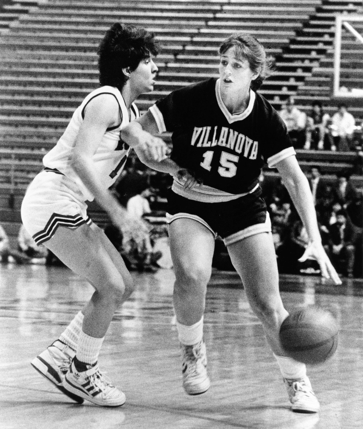 Shelly Pennefather, who later became Sister Rose Marie, a member of the Poor Clare order, is seen during her time as a member of the women's basketball team at Villanova University in Pennsylvania. She celebrated her 25th jubilee at the Poor Clare convent in Alexandria, Va., June 9, 2019.