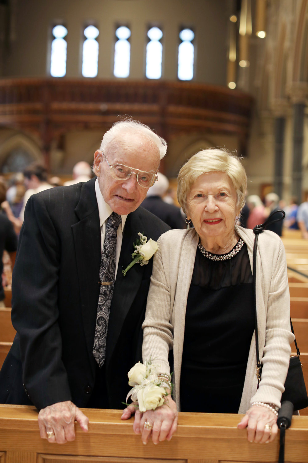Nicola and Santa Mainelli celebrate 75 years of marriage.