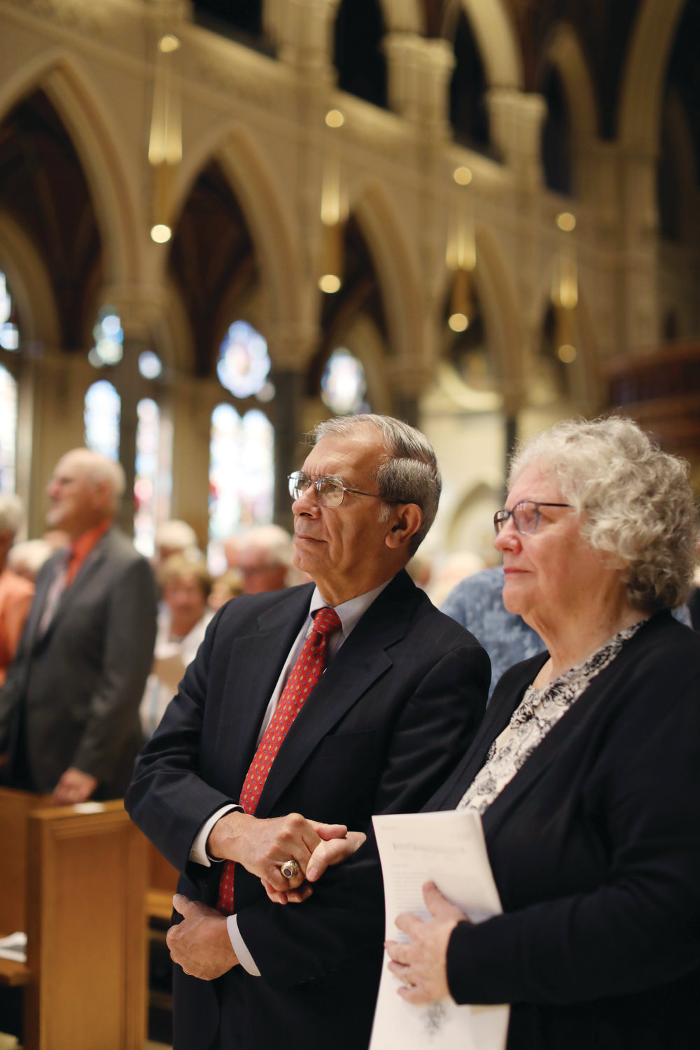 Hundreds of couples gathered on Sunday, Sept. 15 at the Cathedral of SS. Peter and Paul to renew their wedding vows.