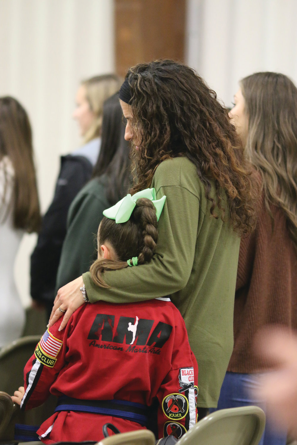 Hundreds fill the parish center at St. Michael Church on Wednesday, Oct. 9, in support of young parishioner Noah Antunes who was recently diagnosed with cancer at the beginning of the month.
