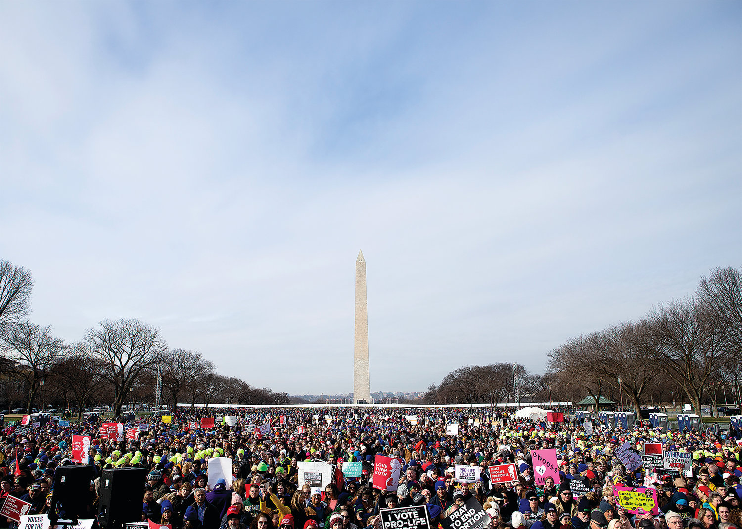 People gather during the annual March for Life rally in Washington Jan. 24, 2020. (CNS photo/Tyler Orsburn) See stories marked LIFE- Jan. 23 and 24, 2020.