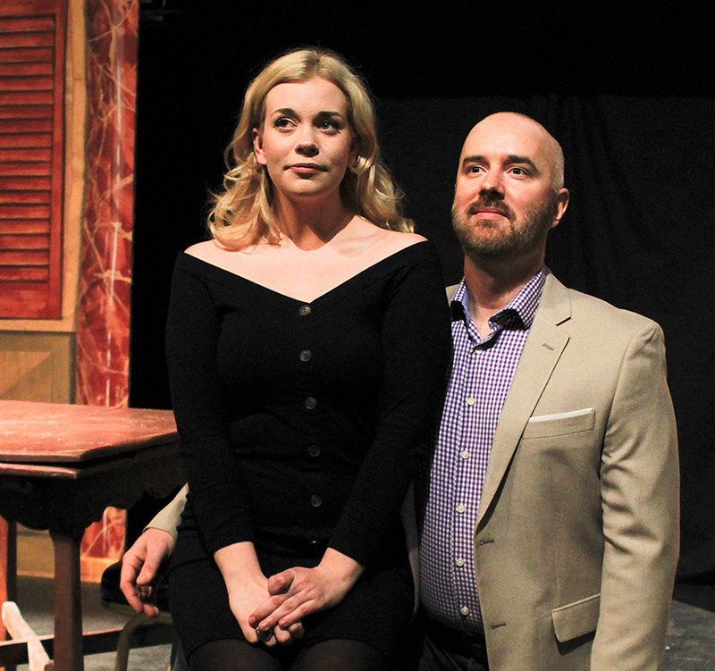 """Photo provided by Sullivan County Dramatic Workshop  Petruchio, played by Carlos Holden, right, attempts to woo """"the curst"""" Katherine, played by Taylor Lamerand."""