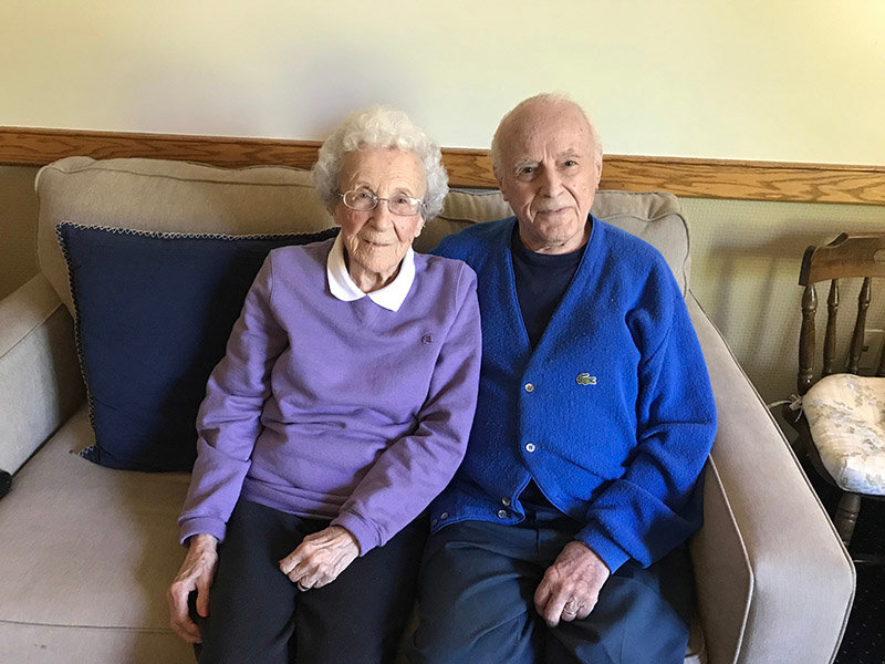Photo contributed by Belle Reve Senior Living  Lovestory:Josephine and Emil Petrick, residents at Belle Reve Senior Living, will celebrate 73 years together on June 9. The couple wed in 1946 after Emil returned from World War II having served 3 1/2 years in the U.S. Army.