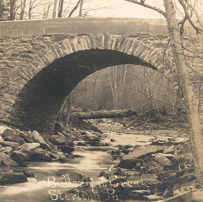 Photo provided by the Wayne County Historical Society  Butternut Creek Bridge, Sterling Township