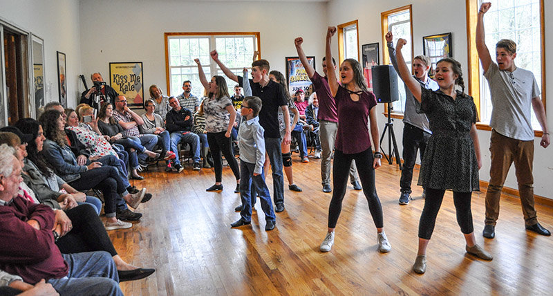 TRR photos by Jonathan Charles Fox    Following a week of training, a troupe of talented young artists performed for friends and family, having completed the first Spring Break Musical Theatre Intensive Workshop held at the Forestbugh Playhouse.