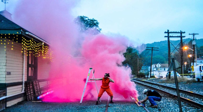 TRR photos by Jonathan Charles Fox      Performance art was alive and well during last Saturday's Callicoon Art Walk.