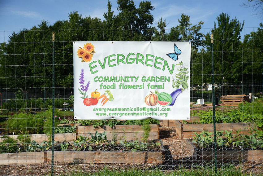 TRR photos by Owen Walsh      Just as the sign suggests: The community garden was created as a way to provide healthy food to the community, to embellish the area with gorgeous flowers and to foster passion for farming among Monticello youth.