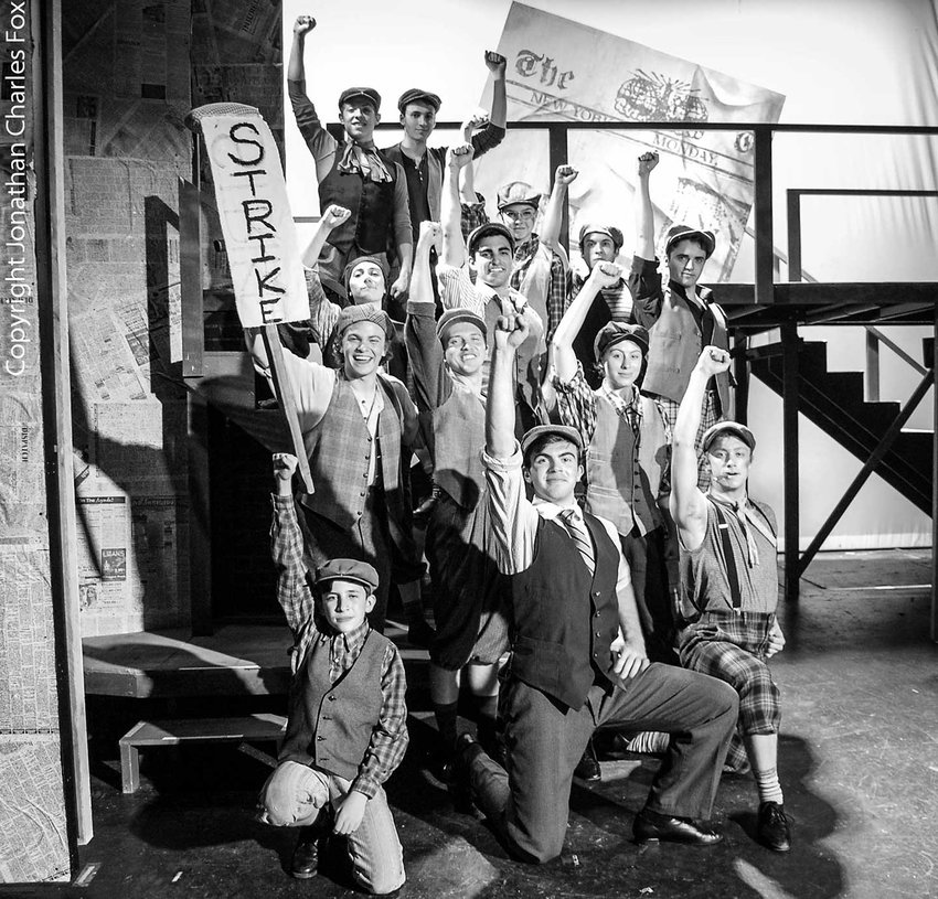 """TRR photos by Jonathan Charles Fox    Depicting the real-life 1899 newspaper boys' strike, Disney's """"Newsies"""" is currently playing at the Forestburgh Playhouse."""