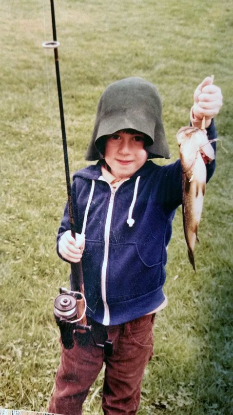 Contributed photos  Josh Boyar at age three poses in 1982 with his first bass.