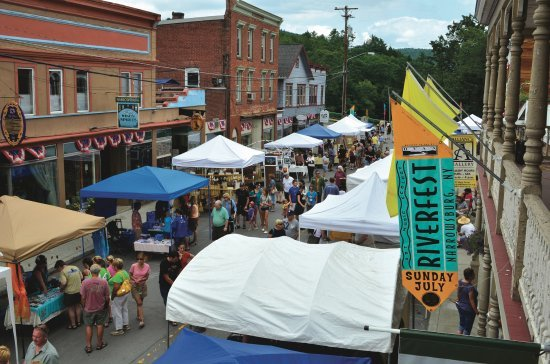 Every year, Main Street floods—in the best sense of the word for a river town—for Riverfest.