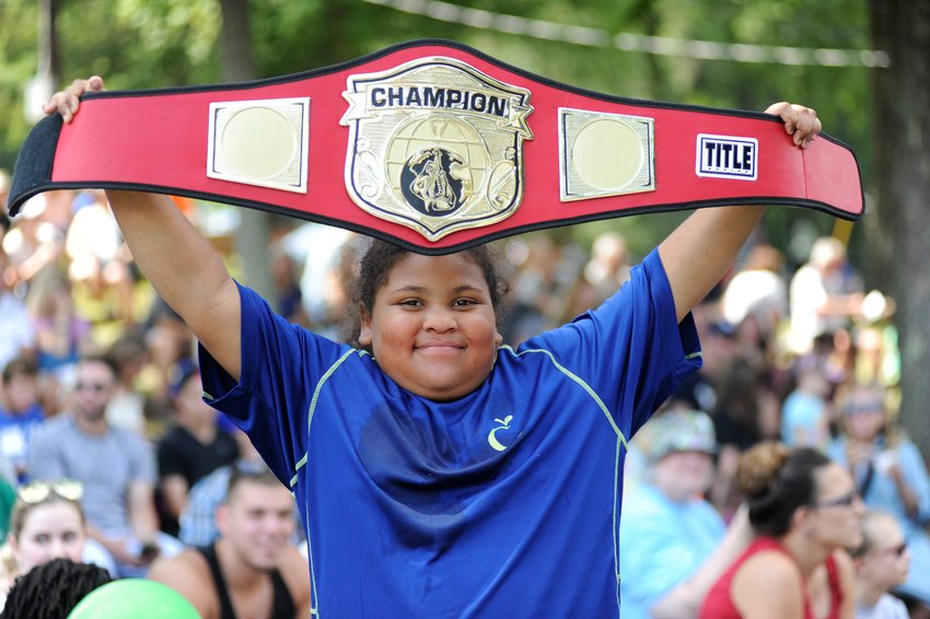 I'm the champion! Ariyan Cottman of Liberty, NY won the 7- to 11-year-old division.