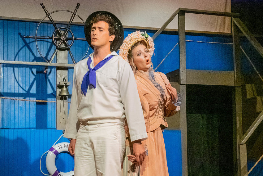 "Cole Ternberg, as Ralph Rickshaw, and Elise Mark as Josephine, impress in the DVO's ""H.M.S. Pinafore."""