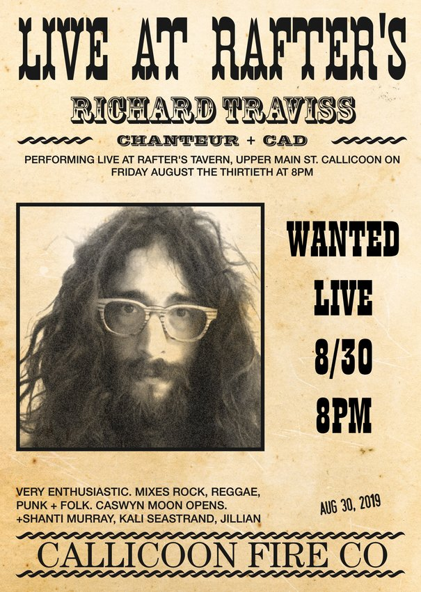 Wanted live! Catch Richard Traviss, alive as ever, this Friday, August 30