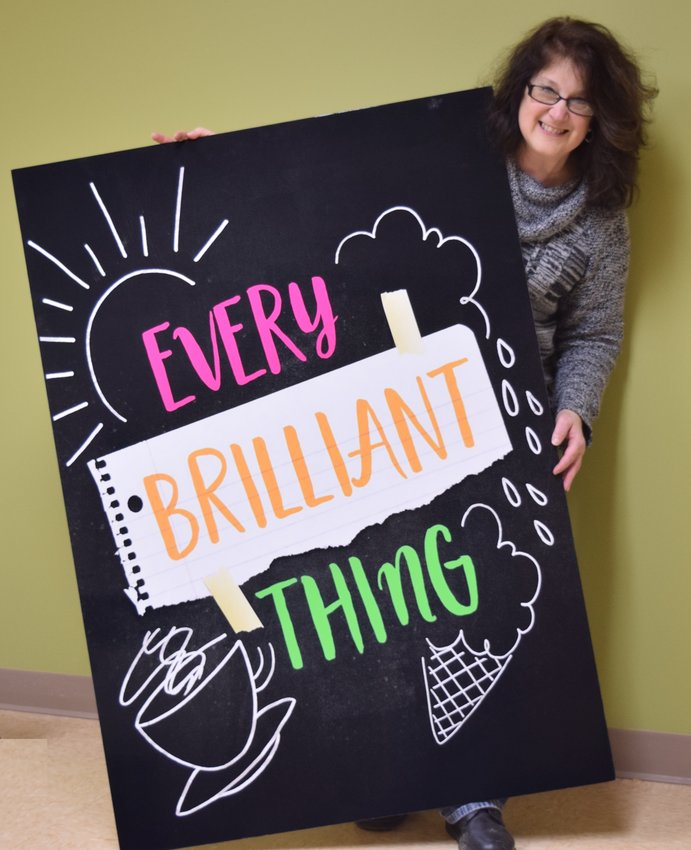 """Every Brilliant Thing"" is directed and performed by Lori Schneider who is executive director of NAMI Sullivan County and has been involved in local community theatre for over three decades as an award-winning director and actress."