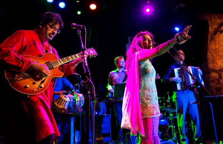Ahluwalia and her five-piece group, which is led by electric guitar master Rez Abbasi and includes an accordion, organ, tabla and drum kit, create boundary-breaking songs.