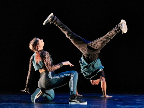 Manon Bal, left, and Matthew West of the Ephrat Asherie Dance company