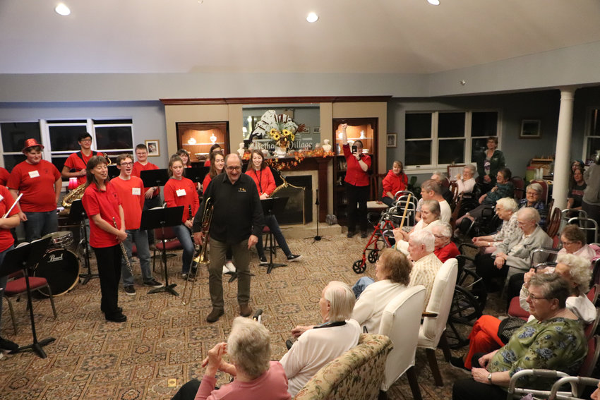 Students from Honesdale High School took a trip to Bethany Village to perform and connect with seniors during the holiday season.
