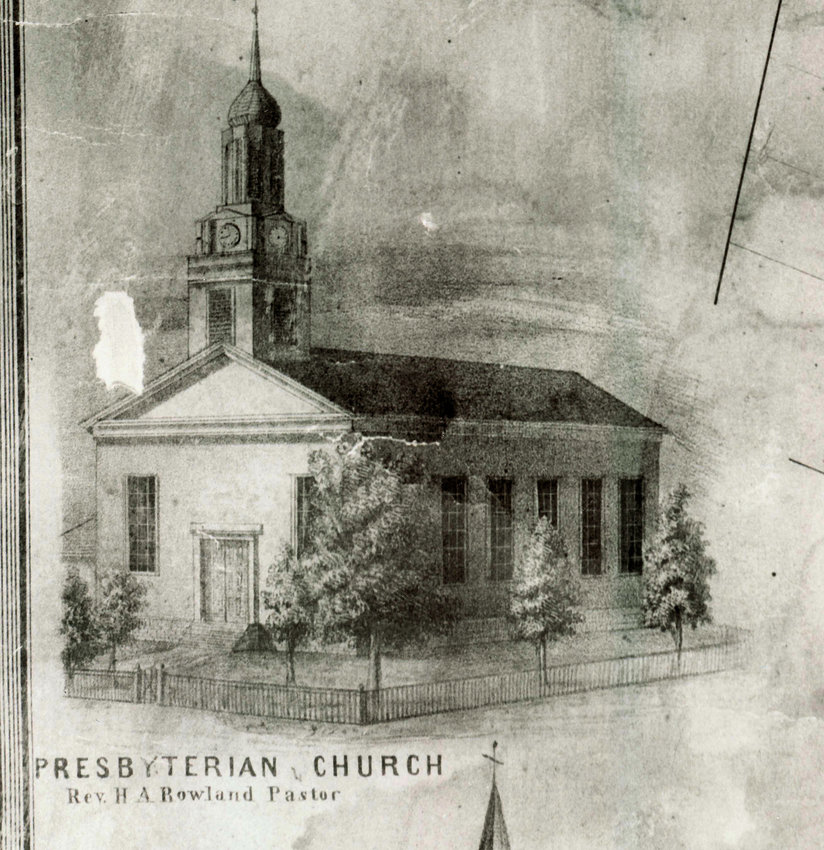 The first Presbyterian Church, circa 1851.