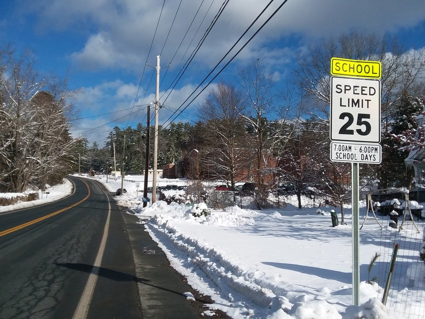 Drivers should take heed that the speed limit has been reduced by the Eldred High School to 25 MPH during school days.