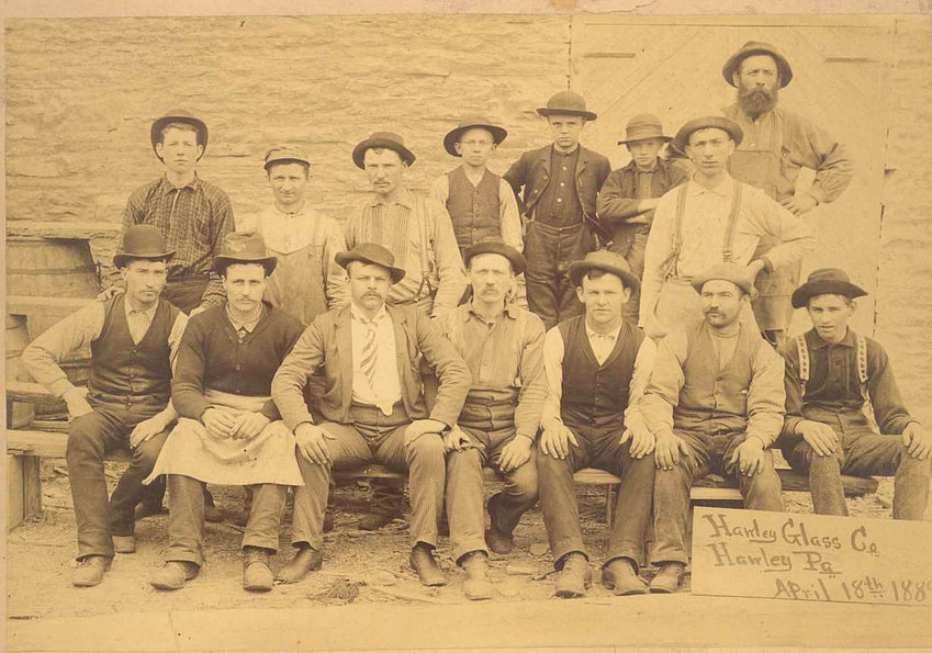 Employees of the Hawley Glass Company.